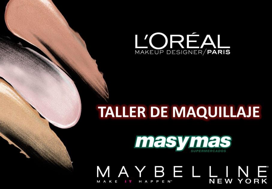 Talleres de maquillaje L'Oreal y Maybelline en masymas supermercados | masymas supermercados