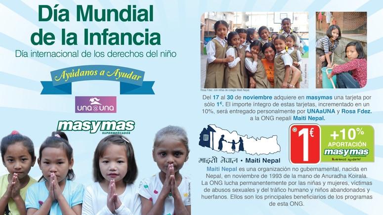 Ayúdanos a ayudar, recogida de fondos en favor de Maiti Nepal