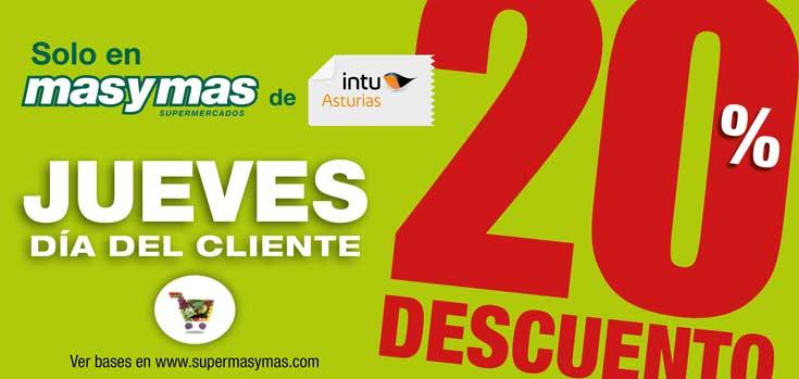 El 'Día del Cliente' llega a masymas, solo en intu Asturias