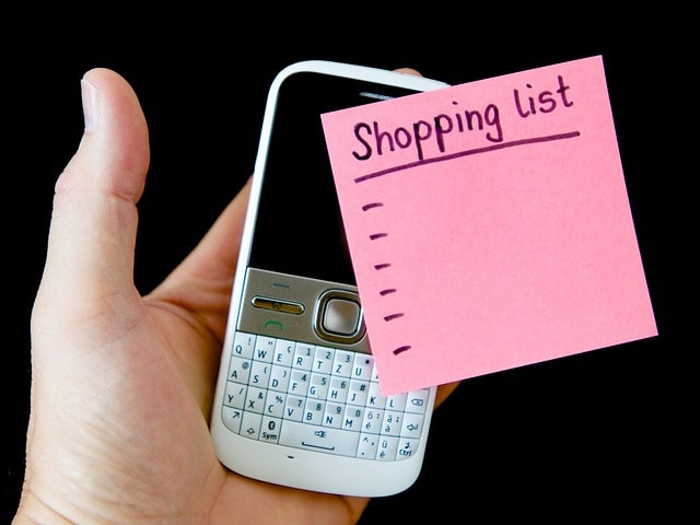 ¿Quieres que tu memoria no te falle? ¡Usa las apps para hacer la lista de compra!