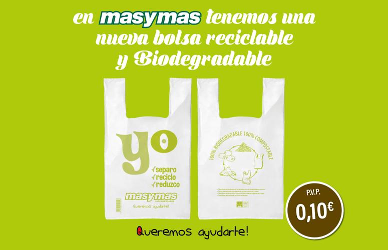 Te presentamos nuestra nueva bolsa reciclable y biodegradable
